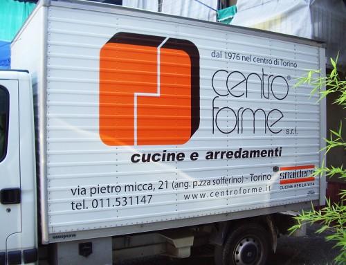 Pubblicità furgone adesivo conformabile