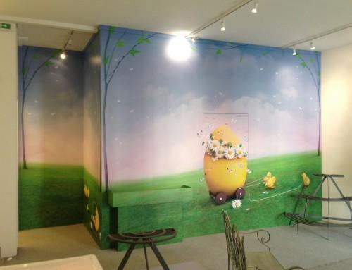 Immagine decorativa parete interna