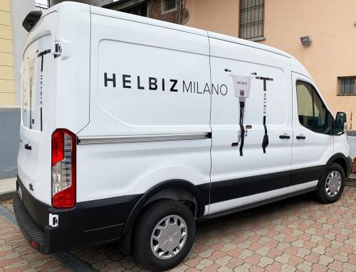 Pubblicità furgone Helbiz Milano