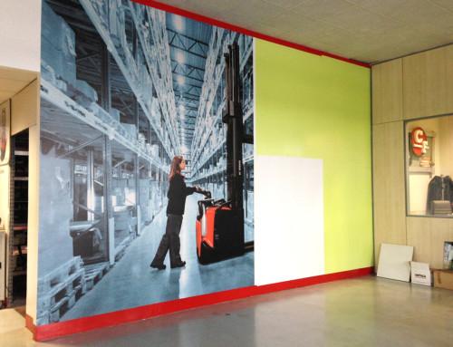 Gigantografia su parete
